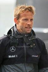 World © Octane Photographic Ltd. Sunday 24th August 2014, Belgian GP, Spa-Francorchamps. - Formula 1 Paddock. McLaren Mercedes - Jenson Button. Digital Ref: 1088LB1D1595