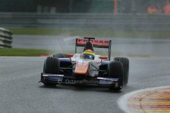 World © Octane Photographic Ltd. Friday Saturday 23rd August 2014. GP2 Race 1 – Belgian GP, Spa-Francorchamps. Sergio Canamasas - Trident. Digital Ref : 1086LB1D0457