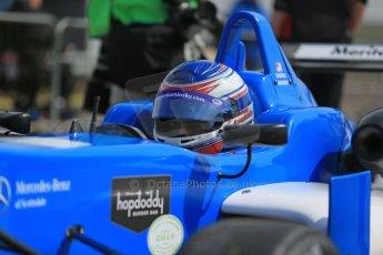 World © Octane Photographic Ltd. Cooper Tyres British Formula 3 (F3). Rockingham - Qualifying, Sunday 4th May 2014. Dallara F308 Mercedes HWA – Camren Kaminsky - Double R Racing. Digital Ref : 0920lb1d1499