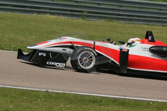 World © Octane Photographic Ltd. Cooper Tyres British Formula 3 (F3). Rockingham - Qualifying, Sunday 4th May 2014. Dallara F312 Mercedes HWA – Matt Rao - Fortec Motorsports. Digital Ref : 0920lb1d1692
