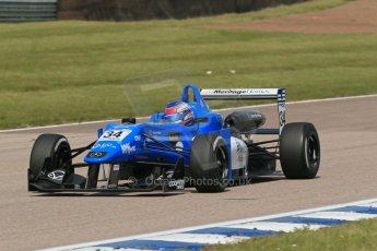 World © Octane Photographic Ltd. Cooper Tyres British Formula 3 (F3). Rockingham - Qualifying, Sunday 4th May 2014. Dallara F308 Mercedes HWA – Camren Kaminsky - Double R Racing. Digital Ref : 0920lb1d1735