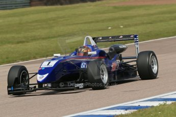 World © Octane Photographic Ltd. Cooper Tyres British Formula 3 (F3). Rockingham - Qualifying, Sunday 4th May 2014. Dallara F310 Volkswagen - Peter Li Zhi Cong - Carlin. Digital Ref : 0920lb1d1745