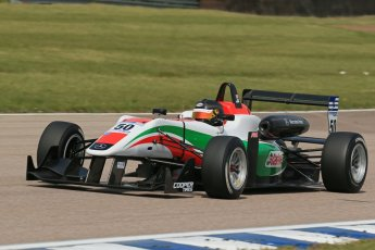 World © Octane Photographic Ltd. Cooper Tyres British Formula 3 (F3). Rockingham - Qualifying, Sunday 4th May 2014. Dallara F312 Mercedes HWA – Sam Macleod - Fortec Motorsports. Digital Ref : 0920lb1d1749