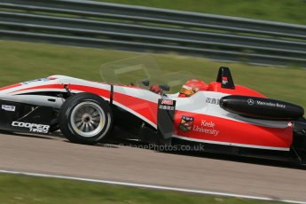"World © Octane Photographic Ltd. Cooper Tyres British Formula 3 (F3). Rockingham - Qualifying, Sunday 4th May 2014. Dallara F312 Mercedes HWA - Hong Wei ""Martin"" Cao - Fortec Motorsports. Digital Ref : 0920lb1d1889"