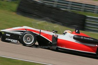 World © Octane Photographic Ltd. Cooper Tyres British Formula 3 (F3). Rockingham - Qualifying, Sunday 4th May 2014. Dallara F312 Mercedes HWA – Matt Rao - Fortec Motorsports. Digital Ref : 0920lb1d1902
