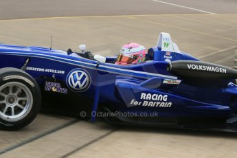 World © Octane Photographic Ltd. Cooper Tyres British Formula 3 (F3). Rockingham - Race, Sunday 4th May 2014. Dallara F310 Volkswagen – Alice Powell – Carlin. Digital Ref : 0921lb1d1972