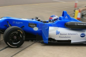 World © Octane Photographic Ltd. Cooper Tyres British Formula 3 (F3). Rockingham - Race, Sunday 4th May 2014. Dallara F308 Mercedes HWA – Camren Kaminsky – Double R Racing. Digital Ref : 0921lb1d1980