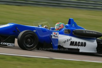 World © Octane Photographic Ltd. Cooper Tyres British Formula 3 (F3). Rockingham - Race, Sunday 4th May 2014.  Dallara F312 Mercedes HWA – Andy Chang – Double R Racing. Digital Ref : 0921lb1d2242