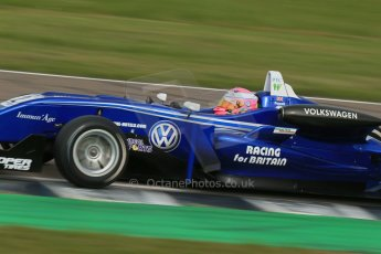 World © Octane Photographic Ltd. Cooper Tyres British Formula 3 (F3). Rockingham - Race, Sunday 4th May 2014. Dallara F310 Volkswagen – Alice Powell – Carlin. Digital Ref : 0921lb1d2333