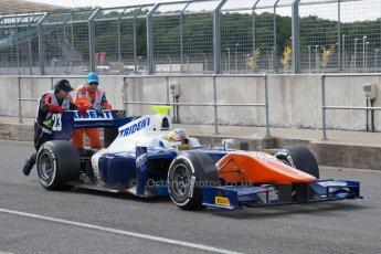 World © Octane Photographic Ltd. Friday 4th July 2014. GP2 Qualifying Session –British GP - Silverstone - UK. Johnny Cecotto - Trident. Digital Ref : 1014JM1D1105