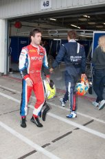 World © Octane Photographic Ltd. Friday 4th July 2014. GP2 Qualifying Session –British GP - Silverstone - UK. Andre Negrao - Arden International and Artem Markelov - RT Russian Time. Digital Ref : 1014JM1D1136