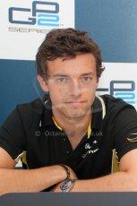 World © Octane Photographic Ltd. Friday 4th July 2014. GP2 Qualifying Press Conference – British GP - Silverstone - UK. Jolyon Palmer – DAMS (2nd). Digital Ref : 1014JM1D1156