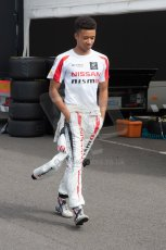 World © Octane Photographic Ltd. Thursday 3rd July 2014. GP3 paddock, Silverstone - UK. Jann Mardenborough - Arden International. Digital Ref : 1008JM1D0992