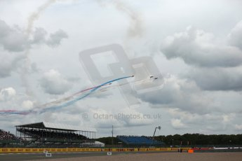 World © Octane Photographic Ltd. Saturday 5th July 2014. British GP, Silverstone, UK. - Formula 1 Paddock. Royal Air Force Red Arrows. Digital Ref: 1025LB1D0362