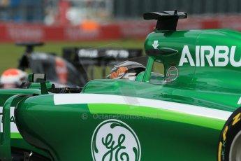 World © Octane Photographic Ltd. Friday 6th June 2014. Canada - Circuit Gilles Villeneuve, Montreal. Formula 1 Practice 2. Caterham F1 Team CT05 – Kamui Kobayashi and Sauber C33 – Adrian Sutil. Digital Ref: 0979LB1D3718