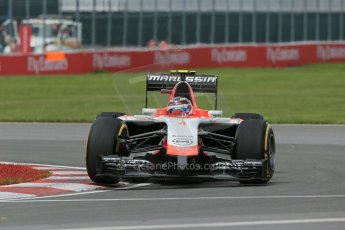 World © Octane Photographic Ltd. Friday 6th June 2014. Canada - Circuit Gilles Villeneuve, Montreal. Formula 1 Practice 2. Marussia F1 Team MR03 - Max Chilton. Digital Ref: 0979LB1D3766