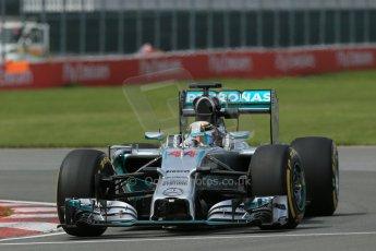 World © Octane Photographic Ltd. Friday 6th June 2014. Canada - Circuit Gilles Villeneuve, Montreal. Formula 1 Practice 2. Mercedes AMG Petronas F1 W05 Hybrid – Lewis Hamilton. Digital Ref: 0979LB1D3939