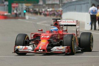 World © Octane Photographic Ltd. Friday 6th June 2014. Canada - Circuit Gilles Villeneuve, Montreal. Formula 1 Practice 2. Scuderia Ferrari F14T - Fernando Alonso. Digital Ref: 0979LB1D4234