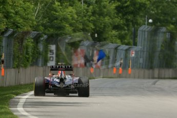 World © Octane Photographic Ltd. Friday 6th June 2014. Canada - Circuit Gilles Villeneuve, Montreal. Formula 1 Practice 2. Infiniti Red Bull Racing RB10 – Daniel Ricciardo. Digital Ref: 0979LB1D4376