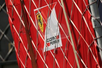 World © Octane Photographic Ltd. Friday 6th June 2014. Canada - Circuit Gilles Villeneuve, Montreal. Formula 1 Practice 2. Scuderia Ferrari logo. Digital Ref: 0979LB1D4485