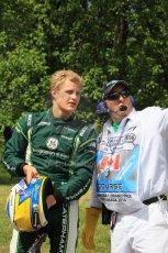 World © Octane Photographic Ltd. Friday 6th June 2014. Canada - Circuit Gilles Villeneuve, Montreal. Formula 1 Practice 2. Caterham F1 Team CT05 – Marcus Ericsson pulls off at turn 3. Digital Ref: 0979LB1D9512