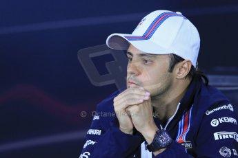 World © Octane Photographic Ltd. Formula 1 Canada – Circuit Gilles Villeneuve, Montreal. Thursday 5th June 2014. Drivers' press conference. Williams Martini Racing – Felipe Massa. Digital Ref : 0977LB1D1276