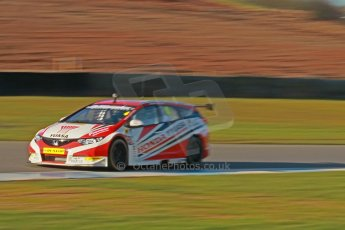 World © Octane Photographic Ltd. Donington Park general unsilenced test day, 13th February 2014. Honda Yuasa British Touring Car Championship (BTCC) 2014 specification Honda Civic Touring - Matt Neal. Digital Ref : 0891cb1d2400