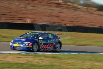 World © Octane Photographic Ltd. Donington Park general unsilenced test day, 13th February 2014. Eurotech Racing Honda Civic NGTC - Martin Depper. Digital Ref : 0891cb1d2459