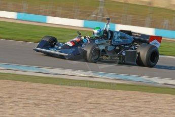 World © Octane Photographic Ltd. Donington Park general unsilenced test day, 13th February 2014. FIA Historic Formula 1 (F1) Championship. Ex-Jackie Ickx Wolf Williams FW05. Digital Ref : 0891cb1d2563