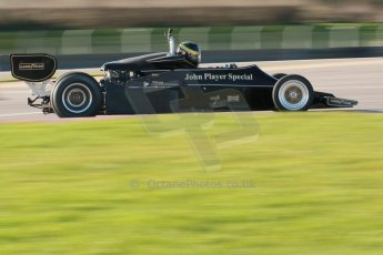 World © Octane Photographic Ltd. Donington Park general unsilenced test day, 13th February 2014. FIA Historic Formula 1 (F1) Championship. Ex-Gunnar Nilsson Lotus 76. Digital Ref : 0891cb1d2579