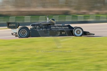 World © Octane Photographic Ltd. Donington Park general unsilenced test day, 13th February 2014. FIA Historic Formula 1 (F1) Championship. Ex-Gunnar Nilsson Lotus 76. Digital Ref : 0891cb1d2600