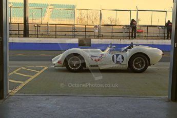 World © Octane Photographic Ltd. Donington Park general unsilenced test day, 13th February 2014. 1958 Lister Knobbly-Chevrolet BHL110 - Roberto Giordanelli. Digital Ref : 0891cb1d3844