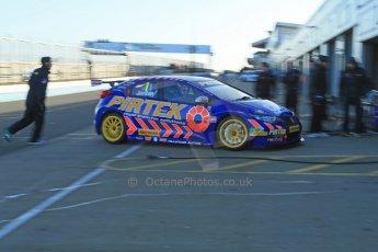 World © Octane Photographic Ltd. Donington Park general unsilenced test day, 13th February 2014. Pirtek Racing (Eurotech) Honda Civic NGTC - Andy Jordan. Digital Ref : 0891cb1d3854