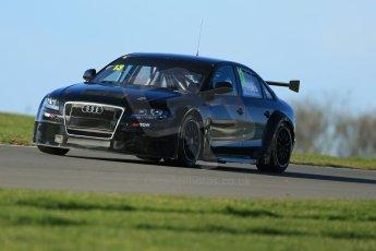 World © Octane Photographic Ltd. Donington Park general unsilenced test day, 13th February 2014. Rob Austin Racing Audi A4 NGTC. Digital Ref : 0891cb1d3936