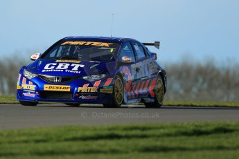 World © Octane Photographic Ltd. Donington Park general unsilenced test day, 13th February 2014. Pirtek Racing (Euroech) Honda Civic NGTC - Andy Jordan. Digital Ref : 0891cb1d3955