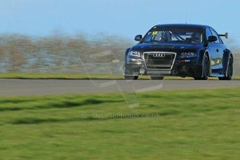 World © Octane Photographic Ltd. Donington Park general unsilenced test day, 13th February 2014. Rob Austin Racing Audi A4 NGTC. Digital Ref : 0891cb1d3980