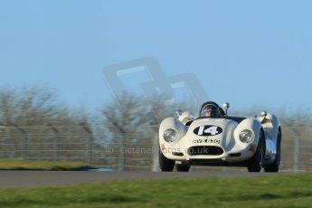 World © Octane Photographic Ltd. Donington Park general unsilenced test day, 13th February 2014. 1958 Lister Knobbly-Chevrolet BHL110 - Roberto Giordanelli. Digital Ref : 0891cb1d4038