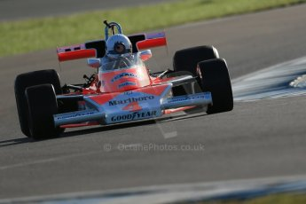 World © Octane Photographic Ltd. Donington Park general unsilenced test day, 13th February 2014. FIA Historic Formula 1 (F1) Championship - Ex-James Hunt McLaren M23 - Charlie Nearburg. Digital Ref : 0891cb1d4333