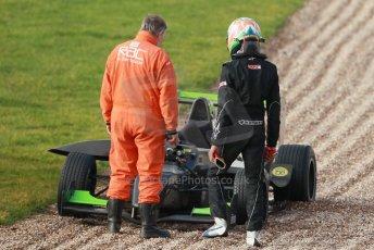 World © Octane Photographic Ltd. 18th February 2014 – Donington Park general unsilenced testing. Protyre Formula Renault BARC -  Tarun Reddy  – MGR Motorsport. Digital Ref : 0892cb1d2991