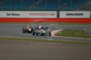 World © Octane Photographic Ltd. FIA European F3 Championship, Silverstone, UK, April 20th 2014 - Race 3. Prema Powerteam - Dallara F312 Mercedes – Antonio Fuoco and Esteban Ocon. Digital Ref : 0911lb1d1594