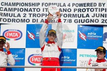 World © MaltaFormulaRacing. FIA F4 Italia Adria International Speedway - June 8th 2014. Tatuus F4 T014 Abarth. Digital Ref : 0989MS8961
