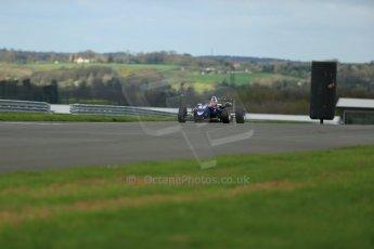 World © Octane Photographic Ltd. Cooper Tyres British Formula 3 Media Day, Castle Donington, Tuesday 8th April 2014. Carlin - Dallara F310 Volkwagen - Peter Li Zhi Cong. Digital Ref : 0903lb1d3897