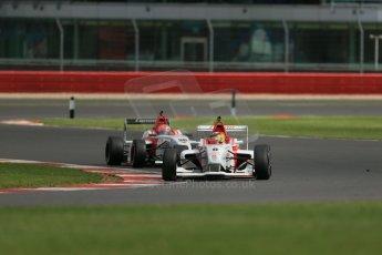 World © Octane Photographic Ltd. BRDC Formula 4 Qualifying, Silverstone, UK, Saturday 16th August 2014. MSV F4-013. Lanan Racing. Struan Moore and Arjun Maini. Digital Ref : 1075LB1D4961
