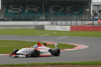 World © Octane Photographic Ltd. BRDC Formula 4 Championship. MSV F4-013. Silverstone, Sunday 27th April 2014. Lanan Racing – George Russell. Digital Ref : 0914lb1d1964