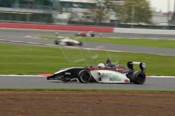 World © Octane Photographic Ltd. BRDC Formula 4 Championship. MSV F4-013. Silverstone, Sunday 27th April 2014. Mark Godwin Racing (MGR) - David Wagner. Digital Ref : 0914lb1d1999