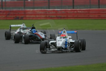 World © Octane Photographic Ltd. BRDC Formula 4 Championship. MSV F4-013. Silverstone, Sunday 27th April 2014. Douglas Motorsport - Diego Menchaca. Digital Ref : 0914lb1d9092