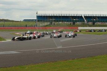 World © Octane Photographic Ltd. BRDC Formula 4 Championship. MSV F4-013. Silverstone, Sunday 27th April 2014. Race 3 start. Digital Ref : 0916lb1d2156