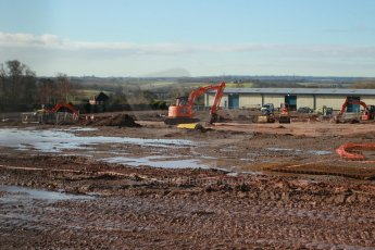 World © Octane Photographic Ltd. 7th February 2014 - FIA Formula E Head Quarters under construction - Donington Park. Digital Ref : 0890CB1D1936