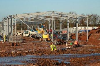 World © Octane Photographic Ltd. 13th February 2014 - FIA Formula E Head Quarters under construction - Donington Park. Digital Ref : 0890cb1d2153
