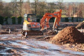 World © Octane Photographic Ltd. 13th February 2014 - FIA Formula E Head Quarters under construction - Donington Park. Digital Ref : 0890cb1d2155